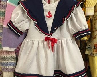 80s Sailor Dress 4T