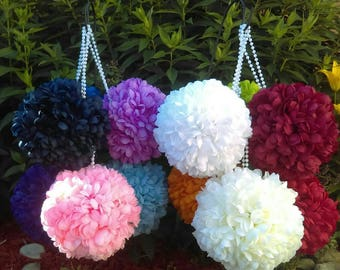 "7"" Mum Pomander Kissing Ball *U-Pick color* Great for Pew Bows or as a Flower Girl Bouquet Wedding or Quinceanera"