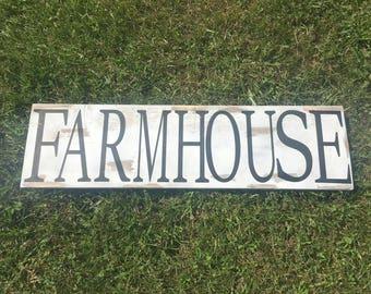 Farmhouse rustic wood sign