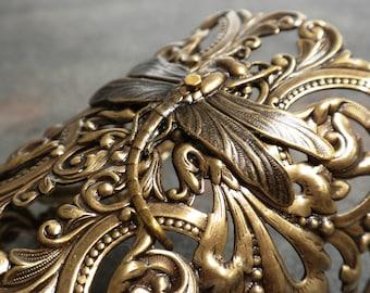 Dragonfly Jewelry Wide Cuff Bracelet