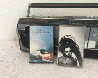 PJ HARVEY, To Bring You My Love, Rid of Me, two cassettes, vintage cassette tape, music cassette