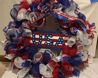 USA / Fourth of July Wreath