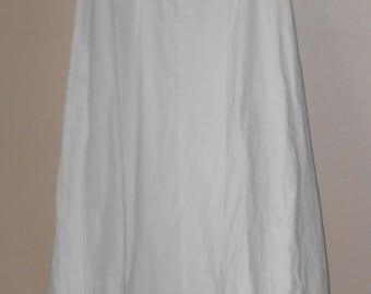 Vintage Petticoat with Hoop - Vintage Petticoat - Ladies Petticoat - Women's Petticoat - White Petticoat - Women Clothing - Undergarment