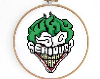 Why So Serious Joker Cross Stitch Pattern