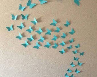 3d Butterfly Wall Art. Choose From 48 Colors In A Quantity Of 48, 96