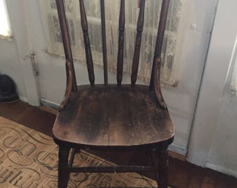 Antique Wooden Kitchen Chair