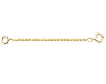 """14K Solid Yellow Gold Rope Chain Extender, 2""""L"""