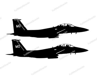 Two Ship 389th Fighter Squadron F-15E Side View Decals - FREE SHIPPING