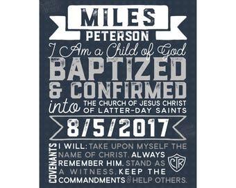 LDS Baptism Printable, LDS Baptism Gift, lds art, Baptism center piece, lds Covenants, lds subway art, mormon art