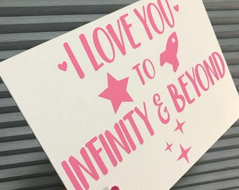 To Infinity & Beyond, Buzz Lightyear, Toy Story, Disney Valentine, Disney Valentine's Day Sign, Disney Couple, Disney Love
