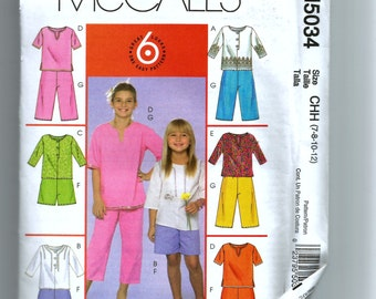 McCall's Girls' Tunic, Shorts, and Capri Pants Pattern M5034