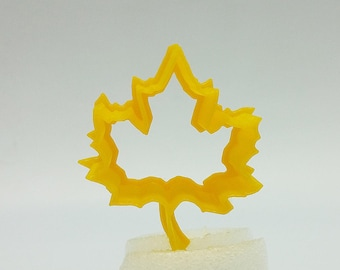 3D Print Maple Leaf Cookie Cutter, 2″/3″/4″/5″ Size, 1″ Deep