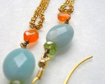 Dangle Earrings of Amazonite