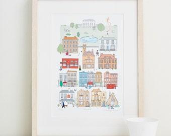 Hampstead Fine Art Print