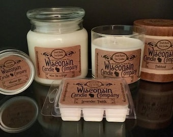 Wisconsin Small Batch Soy Candles, All natural, hand-poured