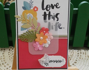 """Card """"Love life"""" birthday, surprise party, friendship"""