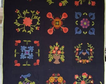 Forest Flower Applique Quilt