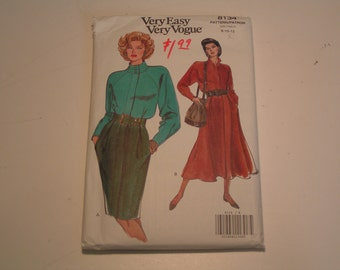 Vintage Vogue Pattern very easy 8134 Miss Dress