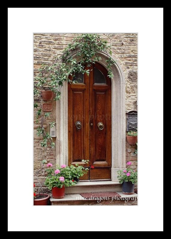 Italian Doors PrintEuropean PhotographyItalian Wall ArtTravel Photography Tuscany Italy Art PrintDoors of Italy Pots of Geranium Flowers & Italian Doors PrintEuropean PhotographyItalian Wall