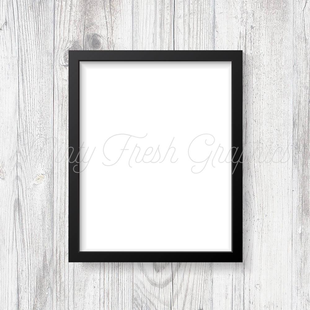 Foto de maqueta de marco - marco negro - madera blanco de la pared ...