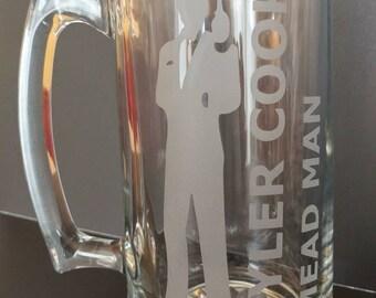 Personalized Engraved Glass Beer Mug 20oz