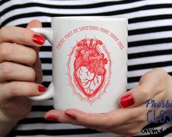 Heart Mug, Phish Lyric mug, More Coffee Mug, Phish Lyrics Mug, More Heart Mug, There Must Be Something More Than This Mug, Phish Coffee Mug