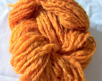Amberous hand-dyed and hand-spun Merino wool 2 ply yarn