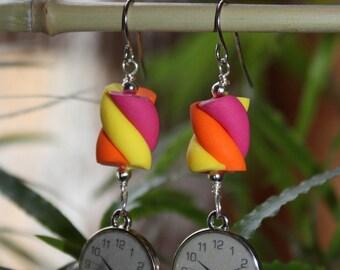 Sweet clock earrings