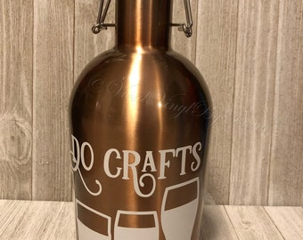 I Do Crafts | 64 ounce flip top growler | Craft Beer Growler | Beer Growler | Beer Glasses