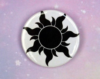 Rapunzel Inspired Sun Pin/Button, Magnet, or Keychain
