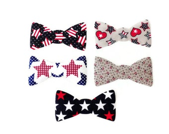 DIY Iron On Bow Tie, Toddler Bow Tie, Iron On Patch, Baby Boy Appliques, Patriotic 4th of July, Applique Designs, DIY Gift For Baby Boy