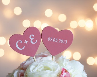 Wedding Cake Topper Rustic Wedding Set Of Two