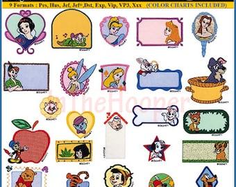 Disney BEST PALS Machine Embroidery Designs Pes, Hus, Jef, Dst, Exp, Jef+, Vip, Vp3, Xxx