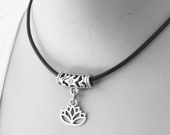 Lotus Necklace/ Lotus Choker/ Lotus Charmholder Necklace/ Lotus Yoga Necklace/ Lotus Flower/ Lotus Charm holder/ Meditation Necklace