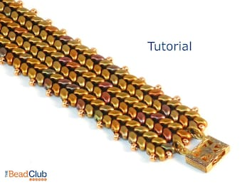 Superduo Bead Patterns - Beaded Bracelet Patterns - Herringbone Bracelet - Beading Tutorials and Patterns - Beadweaving Tutorial - Beadwork