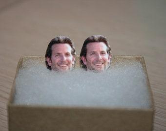 Bradley Cooper Stud Earrings Celebrity Face Jewelry