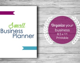 Small Business Planner Printable, Business Printable, Business Planner, Business Plan, Marketing Planner, Social Media Planner, Finance