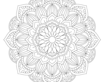 Mandala Coloring Page - Printable Coloring Pages - 01