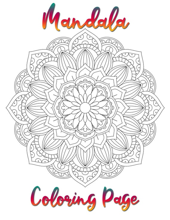 Mandala Coloring Page Printable Coloring Pages 01