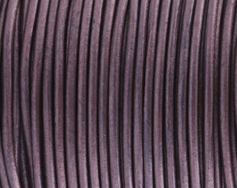 Leather Strap / Leather Cord *Metallic Violet* - 2 mm | Top quality and soft goat skin 2/3/4/5 m - RL05702