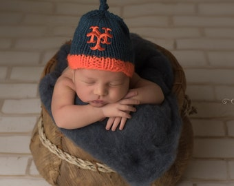 a561f57c965 ... low price new york mets hand knit baby hat mets baby hat hand knitted  baby hat ...