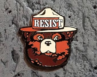 Resist hard Enamel Pin