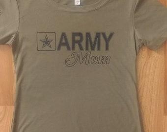 Army - Army Mom - Womens Army Shirt - Army Tshirt - National Guard - Army Mom Shirt  - Short Sleeve Womens Army Shirt - US Army