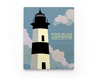 Bodie Island Lighthouse art Block, North Carolina Lighthouse Art
