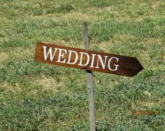 Rustic Wedding Arrow Sign, directional sign wedding sign wedding photo prop outdoor wedding sign, wedding arrow directional arrow