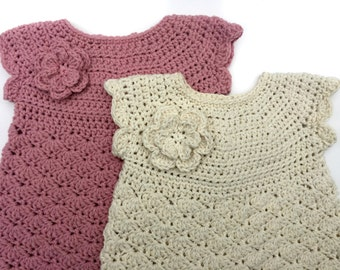 Baby Dress Crochet Pattern for 3 to 18 month Digital PDF Dress Pattern for Babies - No.921 English