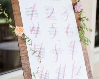 Wedding Seating Chart   Wedding   Wedding Seating Sign   Wedding Reception   Wedding Table Plan   Wedding Seating Plan   Printable Wedding