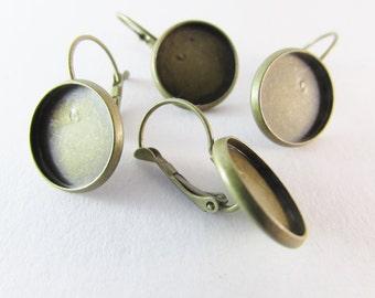 D-00288 - 4 Lever back hoop earrings 14mm
