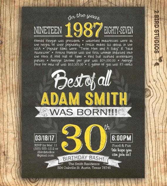 30th birthday invitation surprise 30th birthday invite diy solutioingenieria Images