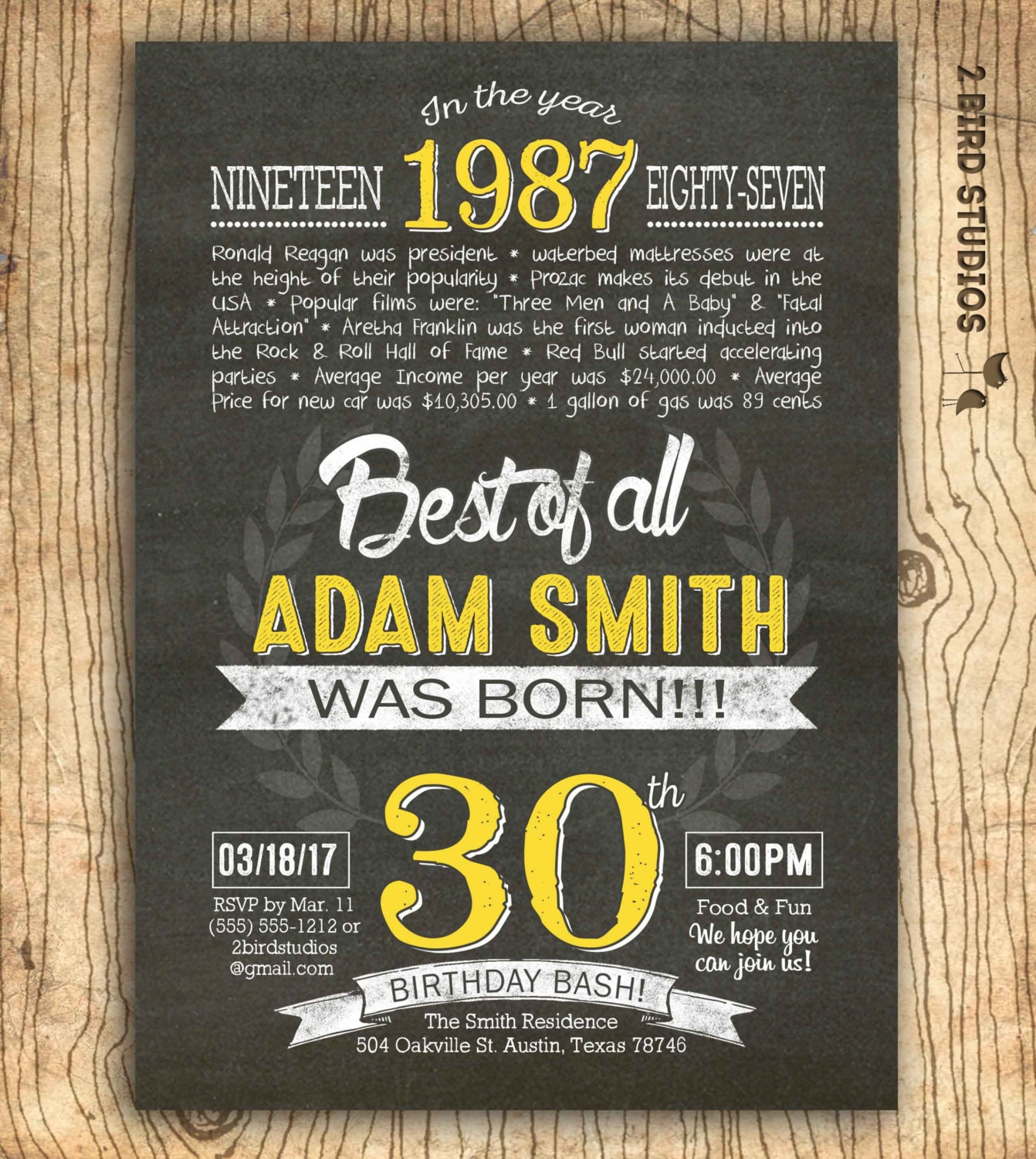 30th birthday invitation surprise 30th birthday invite diy zoom filmwisefo Gallery